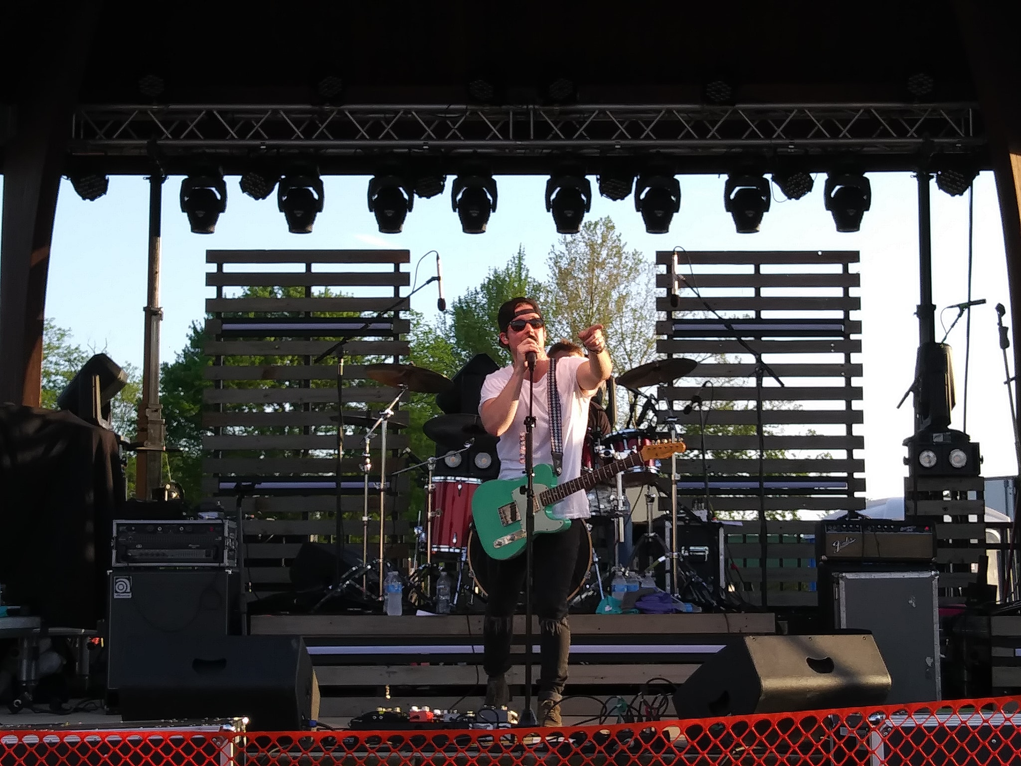 Hudson Moore on Stage in Unity Park